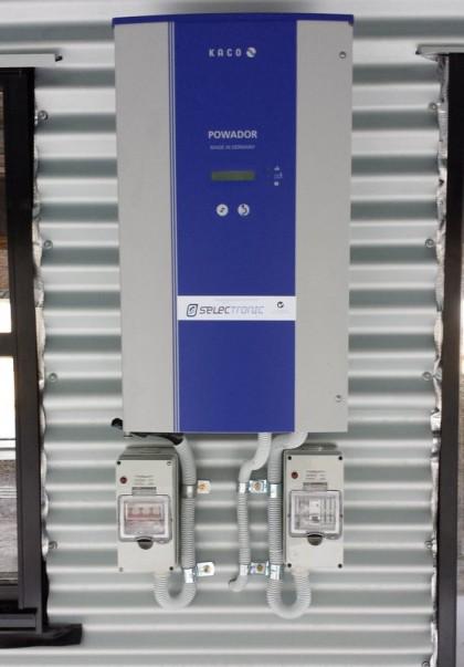 Off grid  - AC coupled system  KACO Selectronic