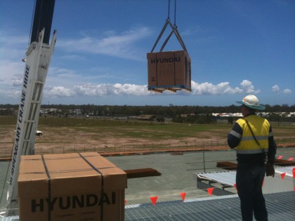 Logistics crane lift - 30KW Burpengary 2012