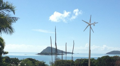 Wind turbine grid connected - Dingo Beach Qld
